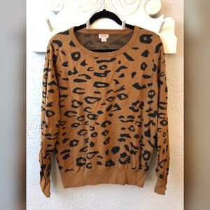 Cheetah sweater Mossimo size XXL
